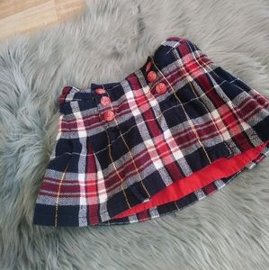TOMMY HILFIGER baby girl plaid skirt